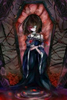 Another- Misaki Mei Anime Art Girl, Manga Art, Manga Anime, Vampires, Another Misaki Mei, Anime Rules, Satsuriku No Tenshi, Scary Art, Gothic Anime