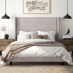 Mercury Row Alrai Upholstered Panel Bed   Birch Lane