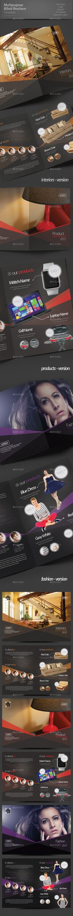 Multipurpose Bifold Brochure Template InDesign INDD