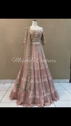 Flirty Fringes, lehenga by MischB Couture