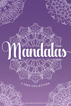 Mandala Collection - Designs By Miss Mandee. 5 Free mandala motifs: perfect for wedding designs, logos, and patterns. Love how intricate these are!