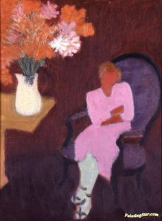 Seated Woman Artwork by Milton Avery Hand-painted and Art Prints on canvas for…