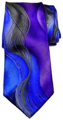 Purple Rain Men's Slik Tie Geometric Abstract Design Multi-Color Classic Necktie