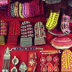 Socks in Friday Bazaar #Tehran #Iran: talented folks displaying thousands of beautiful work!