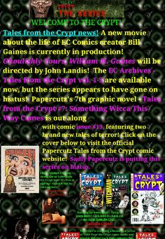 John Landis, Ec Comics, Tales From The Crypt, Fan Page, New Movies, The Creator, Life