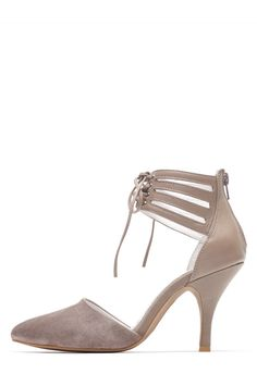 Jeffrey Campbell Shoes PICABO Heels in Taupe Suede Taupe