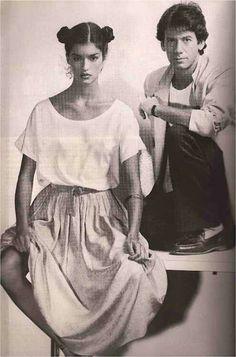Janice Dickinson & Calvin Klein