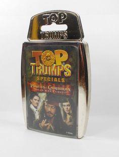 Top Trumps - Pirates of the Caribbean - Dead Man& Chest - Complete Set Top Trumps, Dead Man, Pirates Of The Caribbean, Ebay, Tops