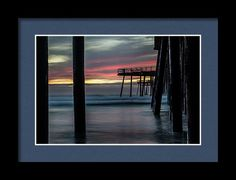 Pismo Beach Framed Print featuring the photograph Under The Boardwalk by Marnie Patchett