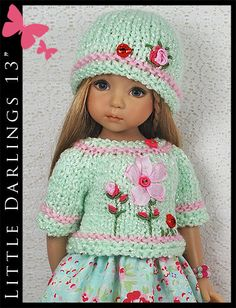 OOAK-Aqua-Pink-Outfit-for-Little-Darlings-Effner-13-by-Maggie-Kate-Create