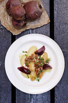 Potatissallad med rödbetor och isterband #Blekingemat