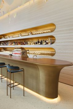 All about the first-ever restaurant and café by Louis Vuitton Modern Restaurant Design, Architecture Restaurant, Pub Design, Bar Interior Design, Hotel Restaurant, Commercial Interior Design, Commercial Interiors, Cafe Bar, Bar Bistro