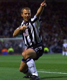 THE LIST: Sportsmail's top 10 of the greatest goal poachers to have played in English football Football Cards, Football Soccer, Newcastle United Football, Sonic The Movie, Alan Shearer, North Shields, Football Pictures, Black Socks, Boys Playing