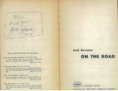 Jack's dedication to Allen Ginsberg in his signed copy of On the Road…  Lol.