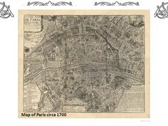 Restoration Hardware Vintage Map Art Scale Paris Map And - Restoration hardware paris map