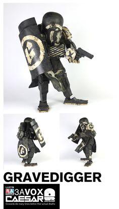 Gravedigger Caesar, ThreeA Toys, Robot