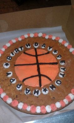 Chocolate chip cookie cake ...basketball