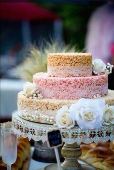 elegant rice krispie treats | 25 Tasty And Easy To Make Rice Krispie Wedding Cakes