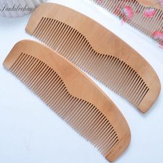 Good Large size Wide Tooth Natural Peach Wood Comb No-static Massage Hair Brush Health care Wood Comb Hair Styling Tools MH646
