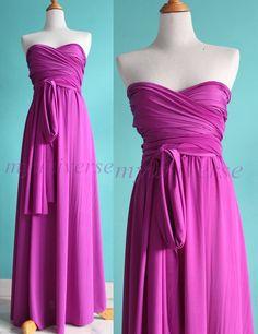 Infinity Dress Bridesmaid Convertible Dress Light Purple Wedding Dress Maxi Dress Women Wrap. $99.00, via Etsy.