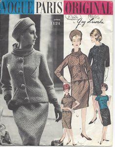 "1961 Vintage VOGUE Sewing Pattern B31"" JACKET-SKIRT & BLOUSE (R426) Guy Laroche #VogueByGuyLaroche"