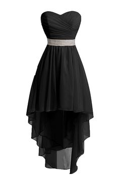 Uryouthstyle Hi-lo Homecoming Dresses Strapless Shinining Belts Bridesmaid Dresses *** Find out more details by clicking the image : Dresses