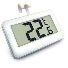 White Digital Electronic Fridge Freezer Room Thermometer With Magnet Hook