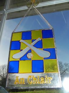 Items similar to Clare hurling GAA window decoration on Etsy Ireland, Irish, My Etsy Shop, Windows, Decorations, Unique Jewelry, Handmade Gifts, Wall, Check