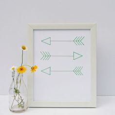 Hand Stitched Arrows Artwork