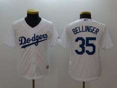 fe22284fb Youth Dodgers 35 Cody Bellinger Gray White Youth Cool Base Jersey.  Lillianjerseys · Los Angeles Dodgers