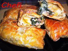 Empanadas de acelgas, atún y quesos