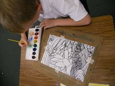 Second grade rainbows project