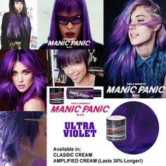 tinte fantasía para pelo color morado manic panic ultra violet