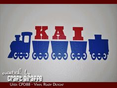 KIDS TRAIN DECOR - Project made using our downloadable digital designs. - Vinyl Ready Designs - http://www.vinylreadydesigns.com/category2.php?search=CP088=Search