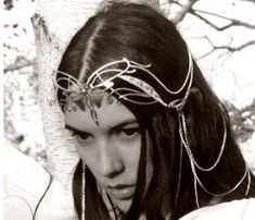 diadème Mariage elfique, couronne et parure de cheveux
