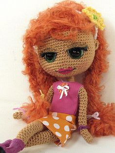 Crocheted Girl by ladynoir63, via Flickr