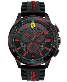Scuderia Ferrari Men's Chronograph Scuderia Black Silicone Strap Watch 48mm 830138 - Watches - Jewelry & Watches - Macy's