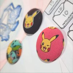 Pikachu & Pokemon Magnets Made From Pokemon Fabric