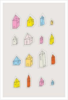 Transparent Houses - Poolga Prints