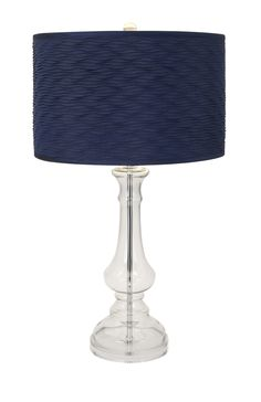 navy starboard glass lamp