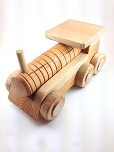 Handmade Wooden Toy Train - Solid Enough Even For Little Boys