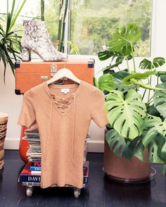 Inside LPA The Label's Founder Pia Arrobio's Closet: Lace Up Beige Top by LPA, Snakeskin Heeled Boot by Raye | coveteur.com