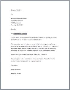 Hotel reservation or confirmation letter is very particular type of letter that is written by hotel management to send to their customers and guests for bo Business Proposal Letter, Business Letter, Job Application Letter Sample, Formal Letter Writing, Confirmation Letter, Biodata Format, Welcome Letters, Types Of Lettering, Model