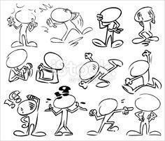 Cartoon, Demander, Point d'interrogation, Dessin animé, Personnage de caractère Illustration vectorielle libre de droits