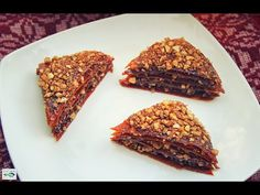 Baklava - Dolce Veg Raw Food   Link Video Ricetta: http://youtu.be/A17jzmaXRbo  #rawfood #crudismo #baklava #dolce #dessert