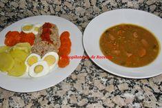 Recopilatorio de recetas thermomix: Cocina a niveles en thermomix (Recopilatorio) Palak Paneer, Chana Masala, Menu, Eggs, Chicken, Cooking, Breakfast, Ethnic Recipes, Food