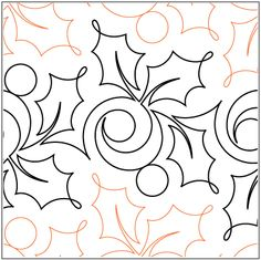 Seasonal - Christmas - Pantographs / by Theme - Digital / Paper - Pantographs - Quilting Designs Quilting Stencils, Quilting Templates, Longarm Quilting, Free Motion Quilting, Quilting Ideas, Quilting Stitch Patterns, Machine Quilting Patterns, Quilt Stitching, Quilt Patterns