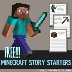 FREE Minecraft Story Starters - pinned by @PediaStaff – Please Visit  ht.ly/63sNt for all our pediatric therapy pins