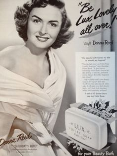 Vintage 1951 Lux Soap Ad with Donna Reed by TheVintageEmpress, $8.95