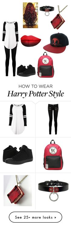 """Random Outfit 2"" by kayla2558 on Polyvore featuring Paige Denim, Marvel Comics and Converse"